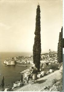 Croatia, Dubrovnik, Panorama, 1962 used real photo Postcard