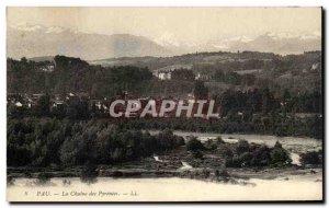 Old Postcard Pau La Chaine des Pyrenees