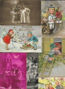 Mixed Lot Kids Merry Christmas Holland and more Postcard Lot of 20   01.16