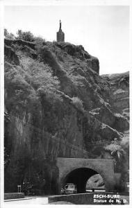 Luxembourg Esch-Sure Statue de N.D. tunnel rue road car voiture 1956