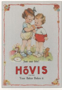 Hovis Your Baker Bakes It Bread Vintage Poster Advertising Postcard