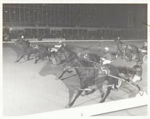 WINDSOR Raceway Harness Horse Race , 1960s-70s ; LOVETTA STAY Wins