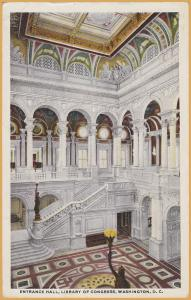 Washington, D.C., Entrance Hall, Library of Congress - 1917