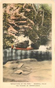 Bushkill Falls Pennsylvania 1920s Reflection Pool Niagara hand colored 517