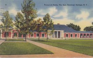 Roosevelt Baths at the Spa - Saratoga Springs NY, New York - pm 1949 - Linen