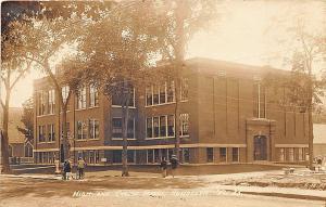 Randolph VT High and Graded School in 1913 RPPC Postcard