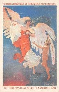 Sottoscrivete Al Prestito Nazionale 1918 Advertising Unused