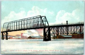 1910s Iowa / NE Postcard Omaha & Council Bluffs St. Ry. Bridge, Missouri River
