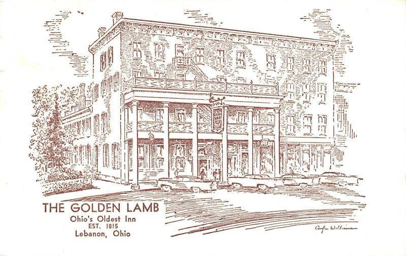 Lebanon Ohio~Golden Lamb Inn (Ohio's Oldest)~1965 Postcard
