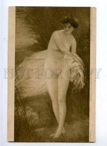 244828 NUDE NYMPH WITCH Sunset by SZENES Vintage PC