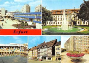 Germany Erfurt Wohngebiet Riethstrasse Zentrum Rat des Kreises Domplatz Brunnen