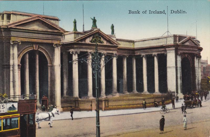 DUBLIN, Ireland, 1900-1910's; Bank Of Ireland