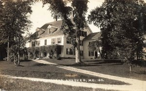 Andover ME Homestead Writers Work Place 1942 Real Photo Postcard