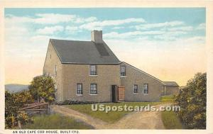 An Old Cape Cod House Built 1713 Cape Cod MA Unused