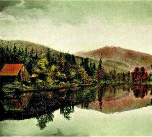 Cabin Scene St Joe River Idaho ID UNP 1910s Vtg Postcard Inland Ptg Co Unused