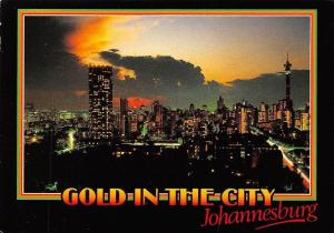Transvaal Johannesburg Gold in the City Sunset Panorama