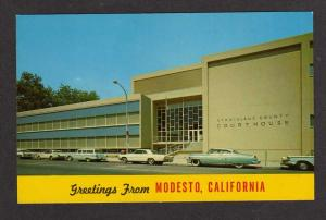 CA Greetings MODESTO CALIFORNIA Courthouse Postcard PC