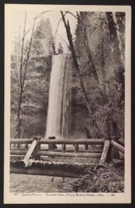 South Falls Silver Crk Falls State Park Ore 97 Real Photo Post Card