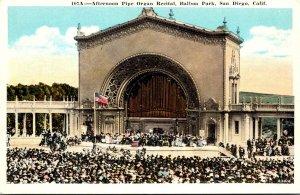California San Diego Balboa Park Afternoon Pipe Organ Recital