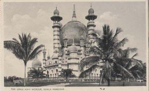 Singapore Ubad Aiah Kuala Kangsar Mosque RPC WW2 Real Photo Postcard