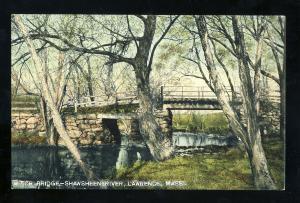 Lawrence, Massachusetts/MA/Mass Postcard, Witch Bridge, Shawsheen River
