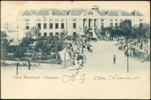 curacao, D.W.I., WILLEMSTAD, Casa Municipal, Town Hall (1899)