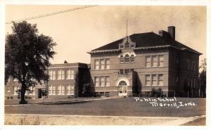 Merrill Iowa~Public School & Annex~1920s Real Photo Postcard~RPPC
