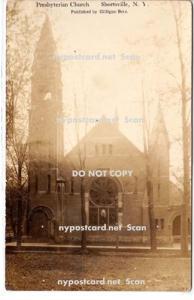 RPPC, Presbyterian Church, Shortsville NY
