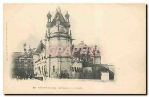 Old Postcard Chateau de Chantilly Levis Bridge and Chapel