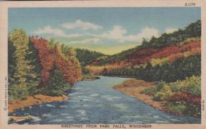 Wisconsin Greetings From Park Falls 1950 Curteich