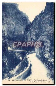 Old Postcard The Gorges du Loup New Road and Bridge the Abyss