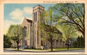 Wisconsin Sheboygan St Paul's Lutheran Church Curteich