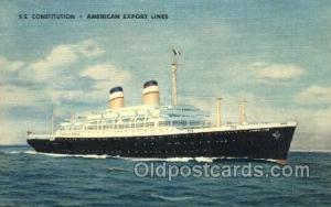 SS Constitution American Export Lines, Ship, Ships, Ocean Liners, Steamers Po...