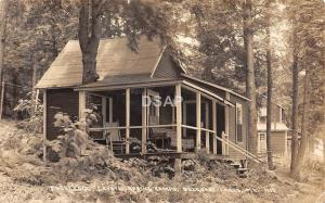 B51/ Belgrade Lakes Maine Me RPPC Postcard Rockledge Crystal Spring Camp c1940s