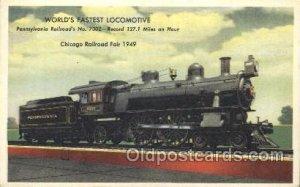 Pennsylvania Railroad Train Locomotive  Steam Engine Unused