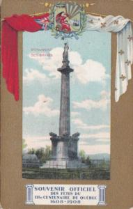 Canada Quebec Monument des BRaves Centenaire De Quebec 1608-1908