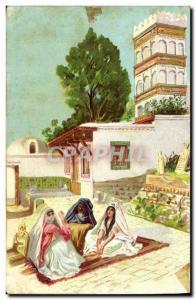 Old Postcard Fantasy Orientalism Egypt Egypt