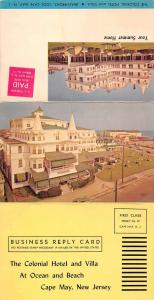 Cape May New Jersey Colonial Hotel Tri-Fold Vintage Postcard J927665