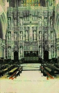 Winchester Cathedral The Great Screen Postcard