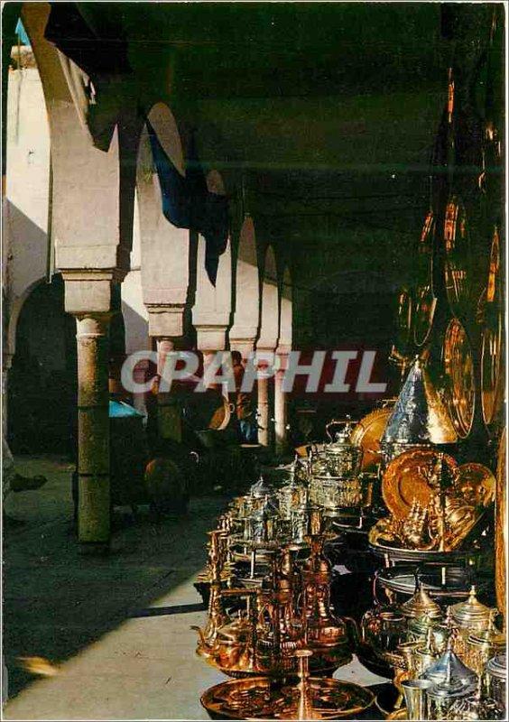 Postcard Modern Casablanca Quartier Habous Souk der goldsmiths