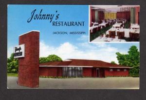 MS Johnnys Restaurant JACKSON MISS Postcard MISSISSIPPI