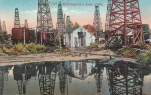 California, 1900-10s; Oil wells & Lake of oil
