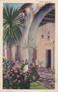 Front Corridor Mission San Juan Capistrano Los Angeles Cailfornia