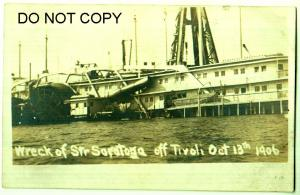 RPPC, Ship Wreck of Str Saratoga, Tivoli, Oct 13th 1906