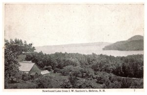 New Hampshire Hebron  Newfound Lake  from J.W. Sanborn's