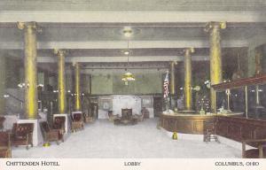 Chittenden Hotel Lobby , COLUMBUS , Ohio , 00-10s