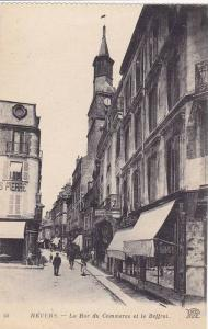 La Rue Du Commerce Et Le Beffroi, Nevers (Nievre), France, 1900-1910s