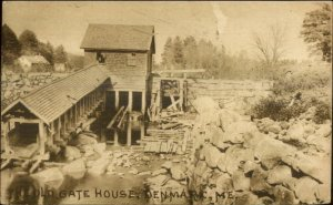 Denmark ME Old Gate House Water Mill c1910 Postcard