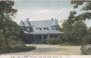 Illinois Peoria Pavilion Glen Oak Park 1909