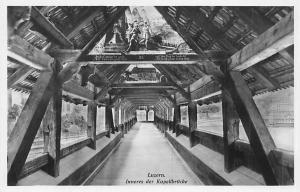 Switzerland Luzern Inneres der Kapellbruecke, Chapel Bridge Interior